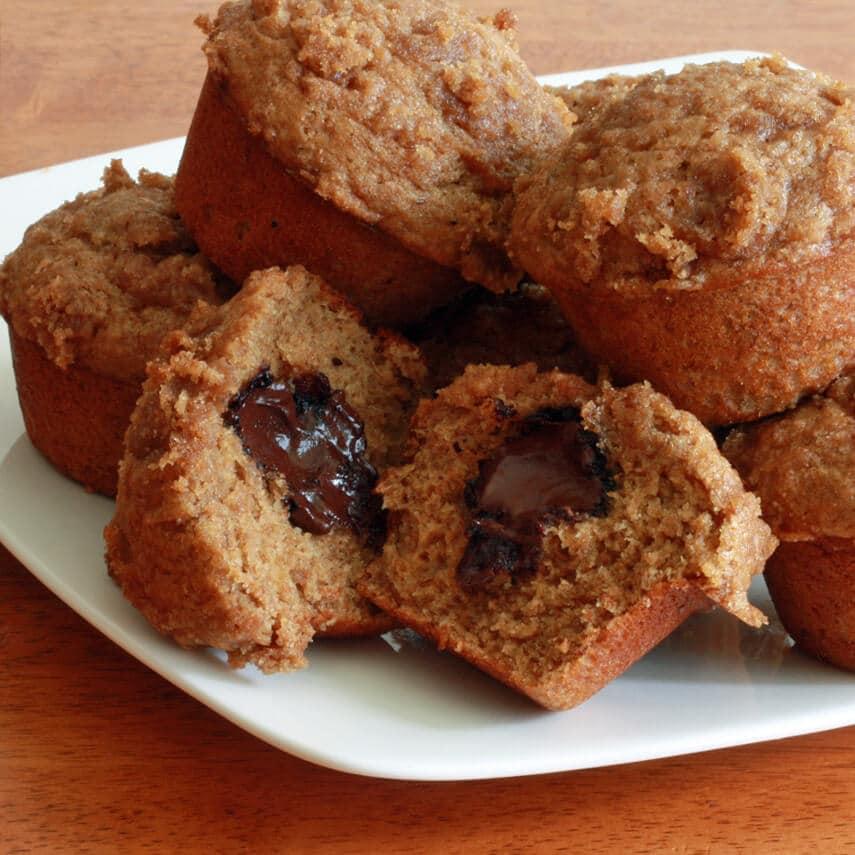 Banana Truffle Muffins