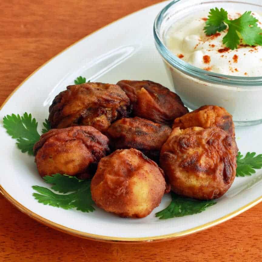 tandoori breaded fried mushrooms